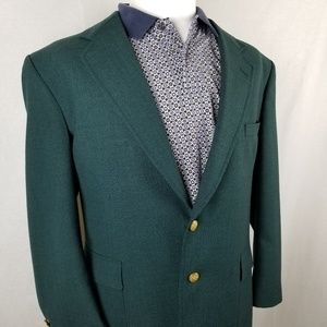 Stafford Men's 44R Blazer Two Button Green